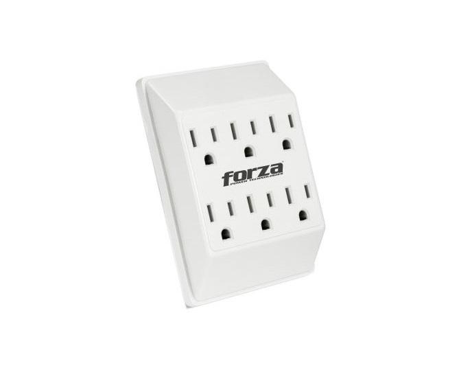 Protector de pared 6 entradas con cargador USB fwt-760 usb